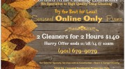 Online Cleaning Special Expires 11/28/14